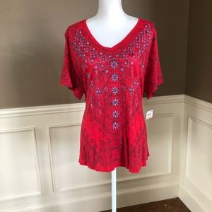 NWT Plus Size V-Neck Top by Style & Co. Size 2X.